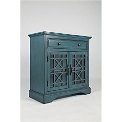 Bowery Hill One Drawer Accent Chest in Antique Blue
