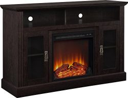 Altra Ameriwood Home Chicago Fireplace TV Console for TVs up to 50″(Espresso)