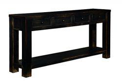 Ashley Furniture Signature Design – Gavelston Sofa Table – Rectangular – Black
