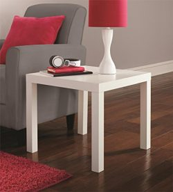DHP Parsons End Table, White