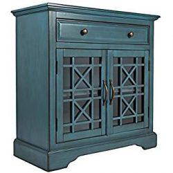 Jofran: 175-32, Craftsman, 32″W X 15″D X 32″H, Antique Blue Finish, (Set of 1)