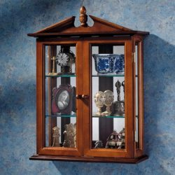 Glass Curio Cabinets – Amesbury Manor – Wall Mounted Curio Cabinet