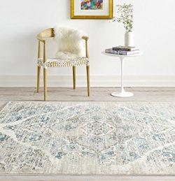 4620 Distressed Cream 5'2×7'2 Area Rug Carpet Large New