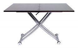 Corner Housewares Modern Multi-Purpose Dining Room Wheeled Transforming Adjustable Expanding X L ...