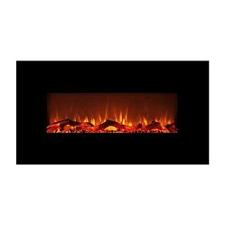 FLAME&SHADE Electric Fireplace Heater Wall Mount or Freestanding, Log Stone Crystal Fuel Eff ...