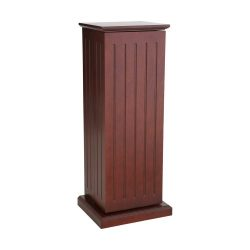 SEI Cherry Media-Storage Pedestal with 10 Adjustable Shelves