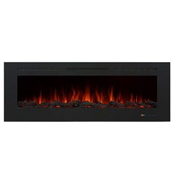 Valuxhome Armanni 60″ 750W/1500W, Electric Fireplace Recessed Heater w/ Touch Screen Panel ...