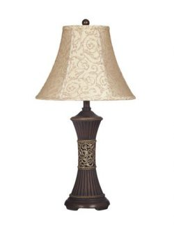 Ashley Furniture Signature Design – Mariana Resin Table Lamp – Traditional Bell Shad ...