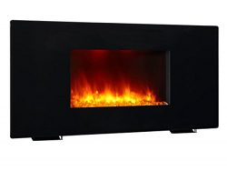 PuraFlame 36″ Galena, Portable or Wall Mounted, Flat Panel Electric Fireplace with Remote, ...