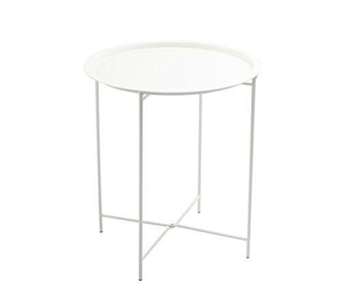 Finnhomy Small Round Side End Table, Sofa Table, Tray Side Table, Snack Table, Metal, Anti-Rusty ...
