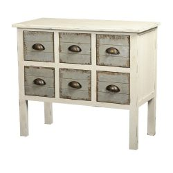 Gallerie Décor Dover 6-Drawer Accent Chest, Cream