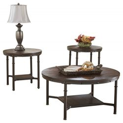 Ashley Furniture Signature Design – Sandling Occasional Table Set – End Tables and C ...