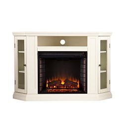 Claremont Convertible Media Electric Fireplace – Ivory