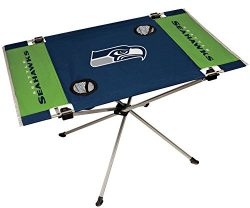 NFL Seattle Seahawks End Zone Table, Large/31.5″ x 20.7″ x 19″, Blue