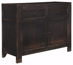 Ashley Furniture Signature Design – Gavelston Accent Cabinet – 2 Cabinets and 2 Draw ...