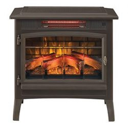 Duraflame 3D Infrared Electric Fireplace Stove with Remote Control – DFI-5010 (Bronze)