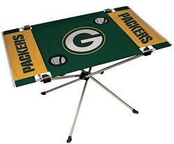 NFL Green Bay Packers End Zone Table, Large/31.5″ x 20.7″ x 19″, Green