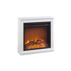 Ameriwood Home Bruxton Simple Fireplace,  White