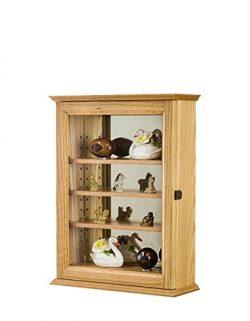 Curio Wall Cabinet Oak Hardwood-*Made in the USA*
