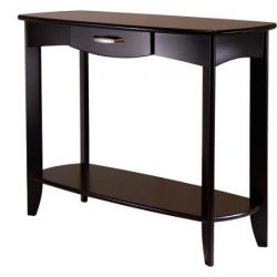Danica Dark Espresso Finish Console Table with Spacious storage drawer
