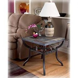 Ashley Furniture Signature Design – Antigo Living Room End Table – Slated Top with M ...