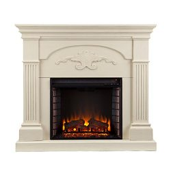 Sicilian Harvest Electric Fireplace – Ivory