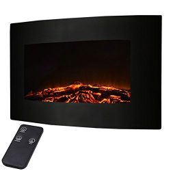 Giantex 35″ Xl Large 1500w Adjustable Electric Wall Mount Fireplace Heater W/remote