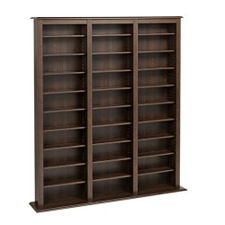 Metro Shop Prepac Everett Espresso Barrister Media Storage Cabinet-Everett Espresso large media  ...