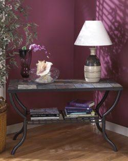 Ashley Furniture Signature Design – Antigo Sofa Table with Console – Slated Top with ...