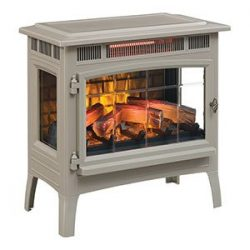 Duraflame 3D Infrared Electric Fireplace Stove with Remote Control – DFI-5010 (French Grey)