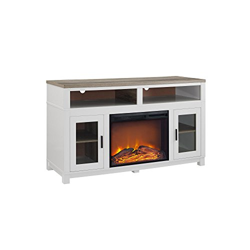 Ameriwood Home Carver Electric Fireplace Tv Stand For Tvs