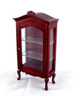 Dollhouse Miniature 1:12 Scale Mahogany Curio Cabinet #T3164