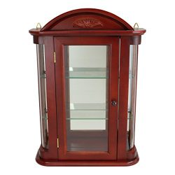 Glass Curio Cabinets – Rosedale – Wall Mounted Curio Cabinet