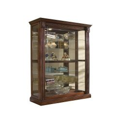 Pulaski Two Way Sliding Door Curio, 43 by 17 by 80-Inch, Medallion Cherry Finish, Brown