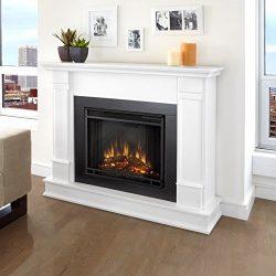 Real Flame G8600E Silverton Electric Fireplace, Medium, White