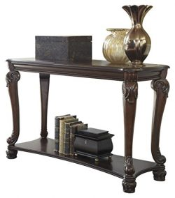 Ashley Furniture Signature Design – Norcastle Sofa Table – Rectangular – Dark  ...
