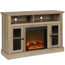 Ameriwood Home 1764196COM Chicago Fireplace TV Stand, Natural