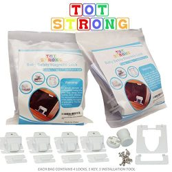 Tot Strong Magnetic Cabinet Lock for Child and Baby Safety for Kitchen Bathroom and Medicine Sto ...