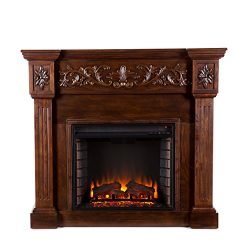 Calvert Carved Electric Fireplace – Espresso
