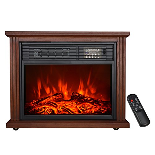 Hollyhome 28 Free Standing Electric Fireplace With 3