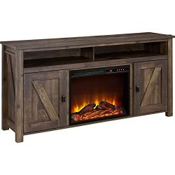 Altra Furniture Farmington 60″ Media Heritage Pine Fireplace