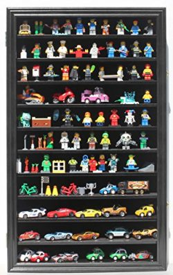 Lego Minifigures Miniature Figures Display Case Wall Curio Cabinet, LGHW11-BL