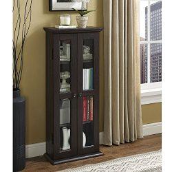WE Furniture 41″ Media Storage Cabinet, Espresso