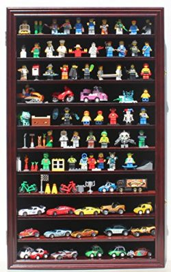 lego Minifigures Miniature Figures Display Case Wall Curio Cabinet, HW11-MAH