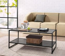 Zinus Modern Studio Collection Deluxe Rectangular Coffee Table, Espresso