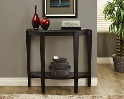 Monarch Specialties Cappuccino Hall Console Accent Table, 36-Inch