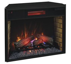 ClassicFlame 28II300GRA 28″ Infrared Quartz Fireplace Insert with Safer Plug