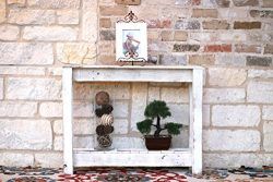 36″ White Console Table