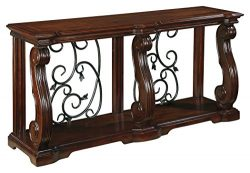 Ashley Furniture Signature Design – Alymere Sofa Table or Entertainment Console – Re ...