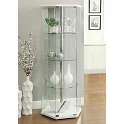 Coaster 950001 Home Furnishings Curio Cabinet, White